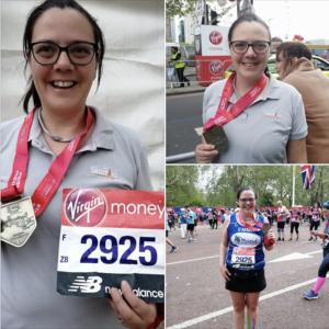 Emma Butler completes the London Marathon