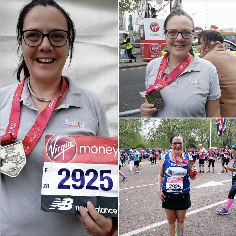Emma Butler completes the London Marathon